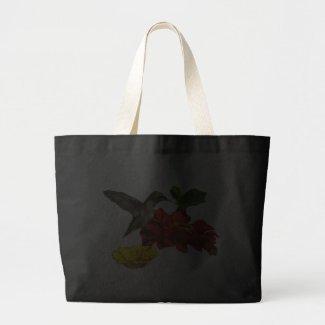 Hummingbird on Zinnias Bag