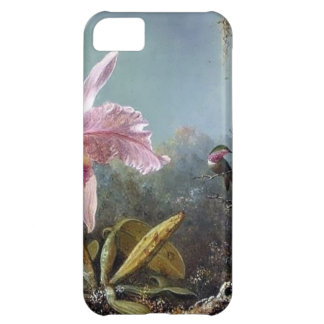 Hummingbird orchid flower tropical forest painting iPhone 5C cover