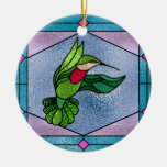 Hummingbird Double-Sided Ceramic Round Christmas Ornament
