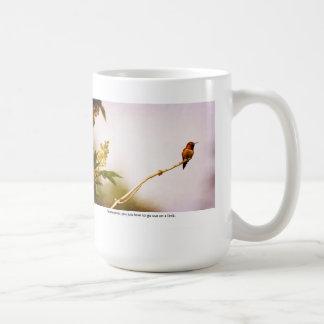 Hummingbird Out on a Limb Mugs
