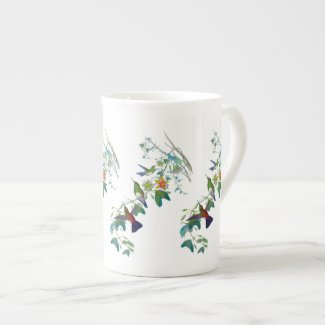 Hummingbird PassionVine Botanical Bone China Mug