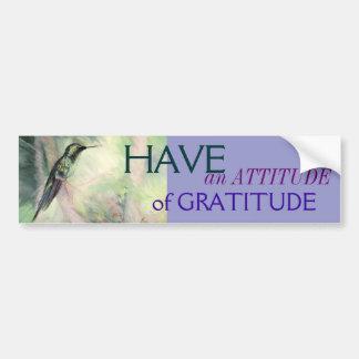 Hummingbird Pastel Fine Art Gratitude Car Bumper Sticker