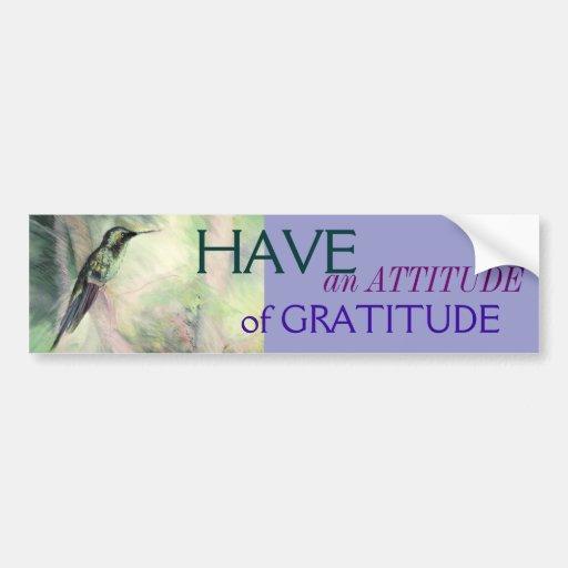 Hummingbird Pastel Fine Art Gratitude Bumper Sticker