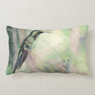 Hummingbird Pastel Fine Art Pillow