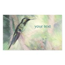 Hummingbird Pastel Fine Art Rectangular Sticker