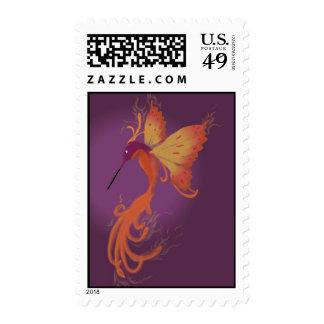 Hummingbird Phoenix Stamp