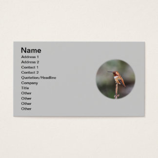 Hummingbird Photo Business Card
