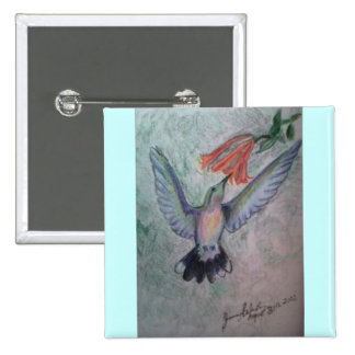 Hummingbird Pinback Button