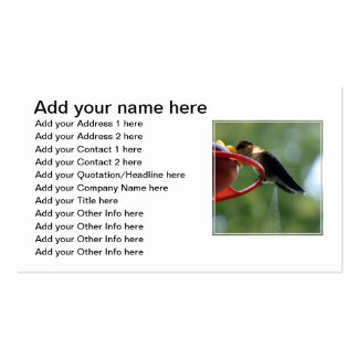 Hummingbird Poop! Business Card Template