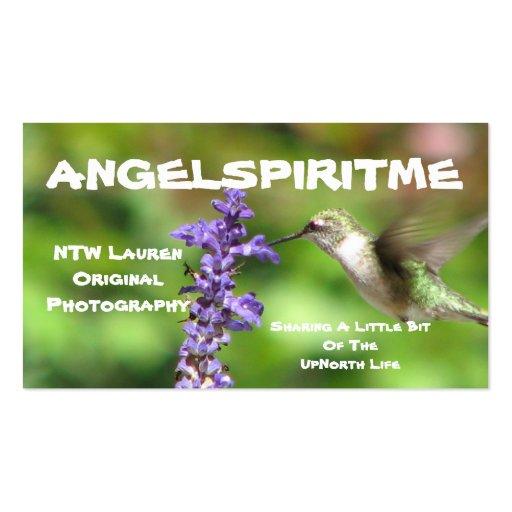 Hummingbird Profile Card 2 Business Card Template