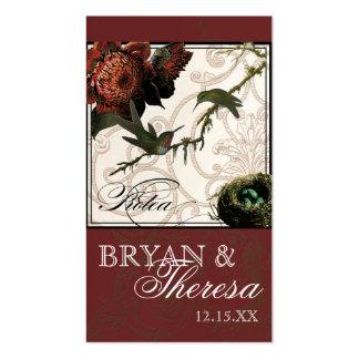 Hummingbird Protea Burgundy - Favor Gift Tags Business Card