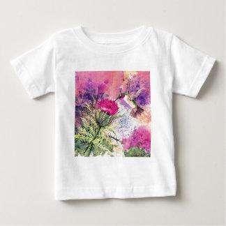 Hummingbird Purple Thistle Art Print Tshirt