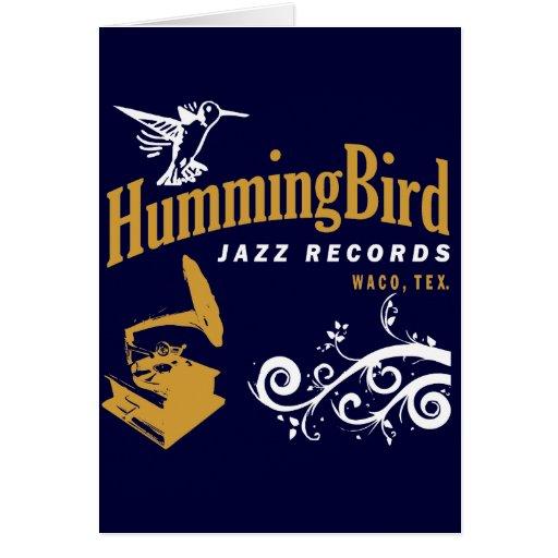 Hummingbird Records Greeting Cards