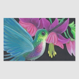 Hummingbird Rectangular Sticker