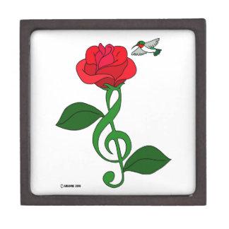 Hummingbird Rose Clef Keepsake Box