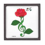Hummingbird Rose Clef Premium Trinket Boxes