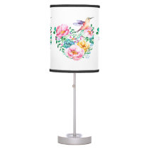 Hummingbird-&-Roses by-Madison Tabletop Lamp