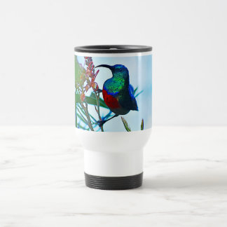 Hummingbird ruby throated 15 oz stainless steel travel mug