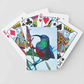 Hummingbird ruby throated bicycle playing cards
