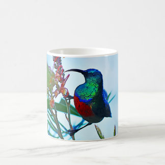 Hummingbird ruby throated coffee mug