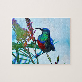 Hummingbird ruby throated jigsaw puzzles