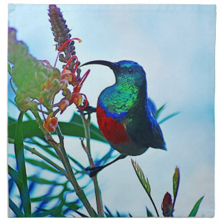 Hummingbird ruby throated printed napkin