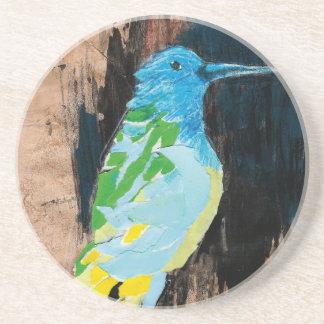 hummingbird sandstone coaster