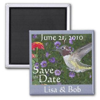 Hummingbird Save the Date Magnet