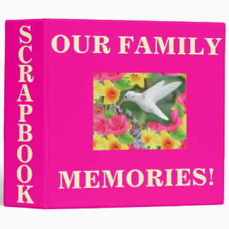 HUMMINGBIRD SCRAPBOOK BINDER
