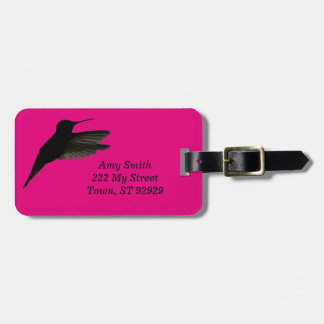 Hummingbird Silhouette Bag Tag