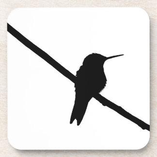 Hummingbird Silhouette Beverage Coaster