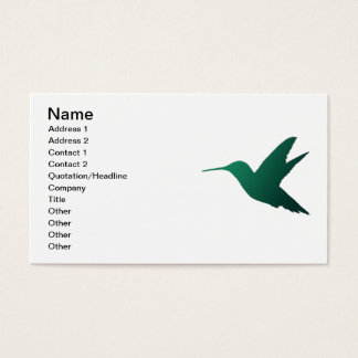 Hummingbird Silhouette Business Card