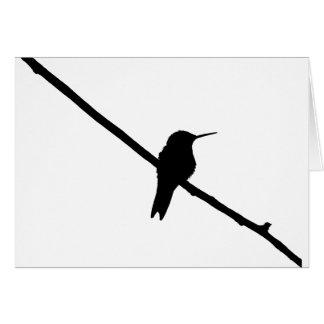 Hummingbird Silhouette Card