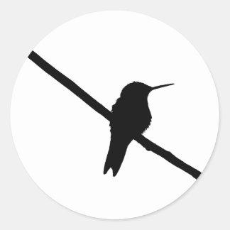 Hummingbird Silhouette Classic Round Sticker