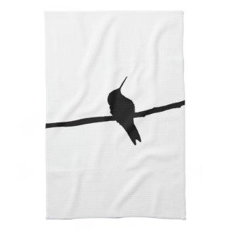 Hummingbird Silhouette Kitchen Towel