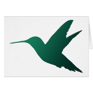 Hummingbird Silhouette Notecard Stationery Note Card