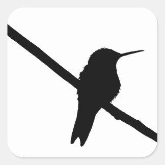 Hummingbird Silhouette Square Sticker