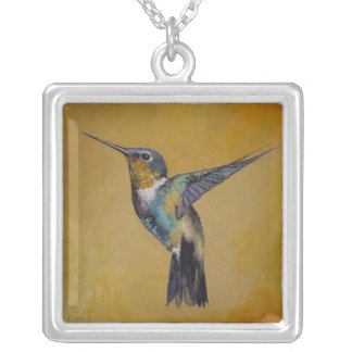 Hummingbird Silver Plated Necklace