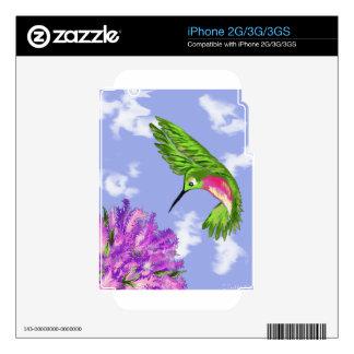 Hummingbird Decals For iPhone 3