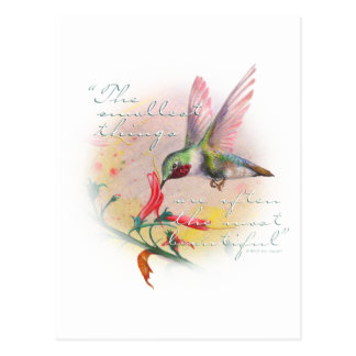 Hummingbird - Small things are the most beautiful. Postcard
