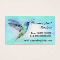 Hummingbird Standard Business Card