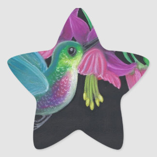 Hummingbird Star Sticker