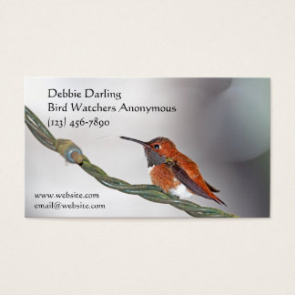 Hummingbird Sticking Out Tongue Business Card