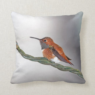 Hummingbird Sticking Out Tongue Throw Pillow