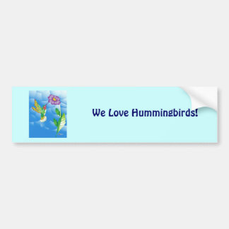 Hummingbird:  Stylized Car Bumper Sticker