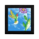Hummingbird:  Stylized Gift Box