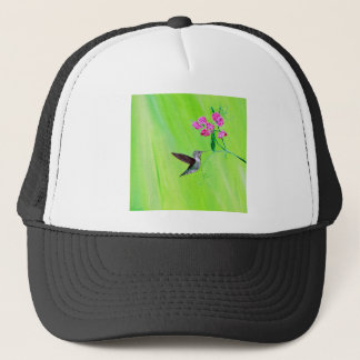 Hummingbird & Sweet Peas Trucker Hat