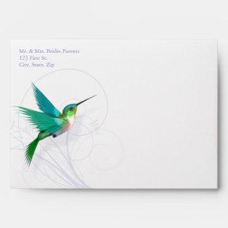Hummingbird Swirl 5x7 Invitation Envelope (A7)