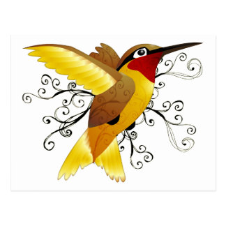 Hummingbird Swirl Postcard