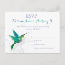 Hummingbird Swirl RSVP Postcard